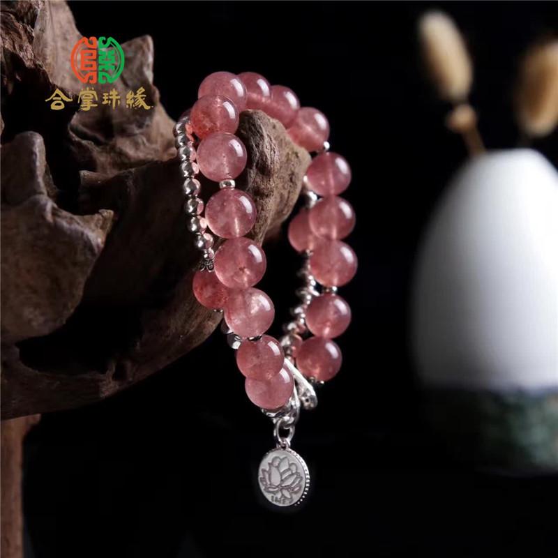 手工原创设计草莓晶手链